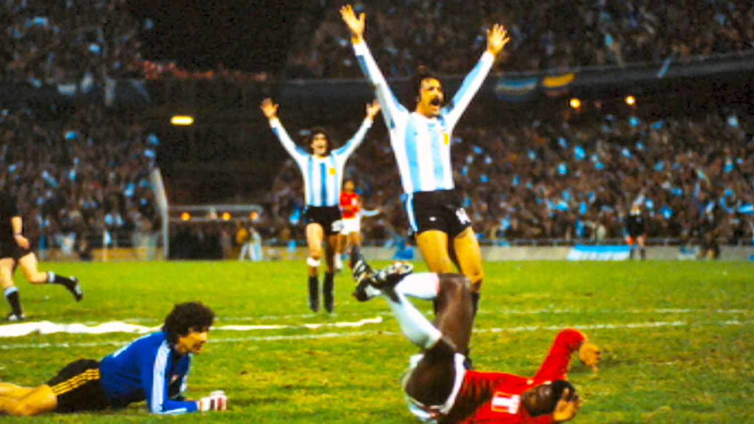 Argentina pulls off a 'miraculous' victory against Peru during the 1978 world cup. Many believe that Argentinean dictator cut a deal with his military counterpart in Peru to make sure that Argentina won by four goals and march into the finals. -- Photo: Channel 4