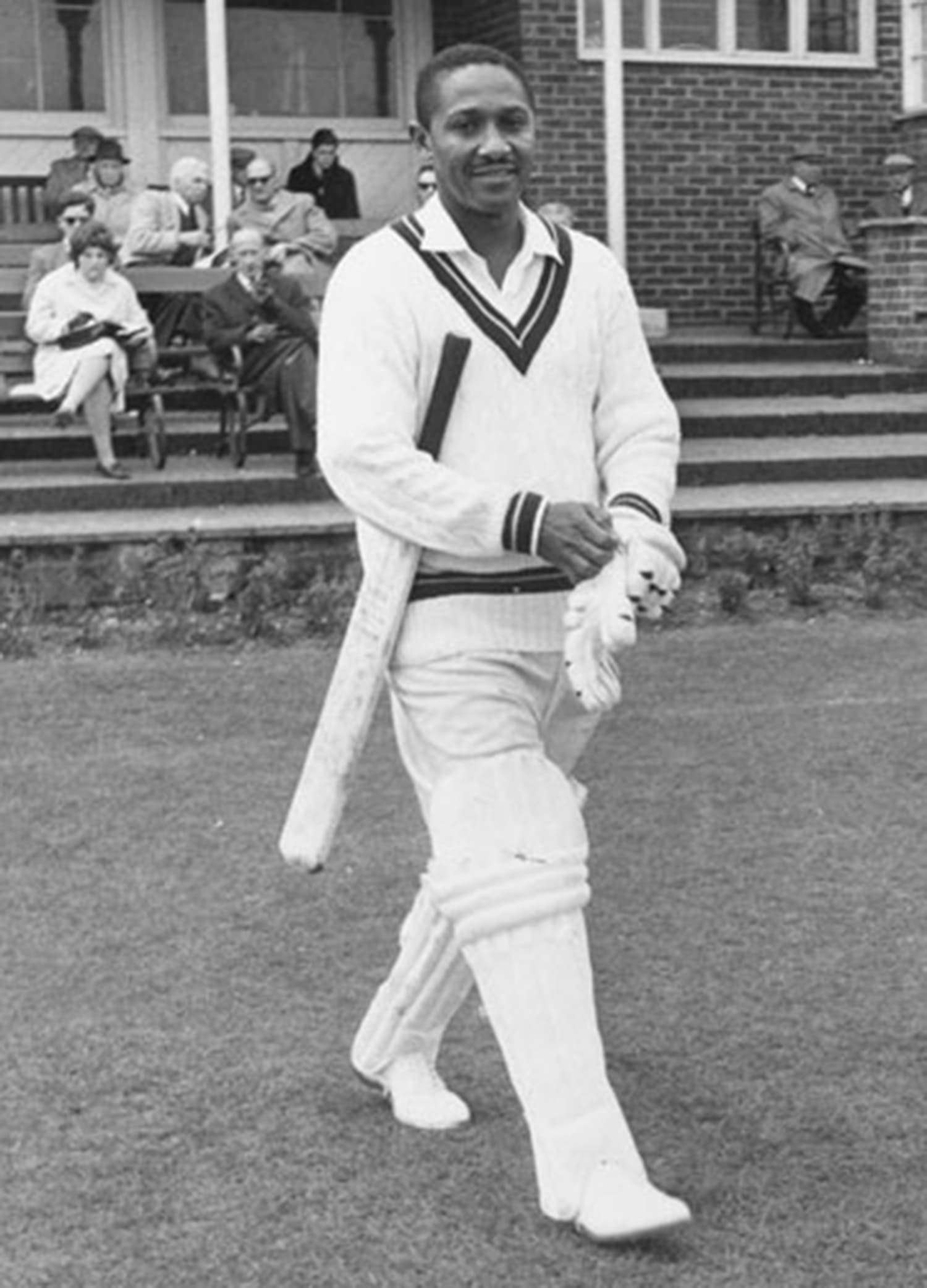 Frank Worrell, WI's first black captain. He was made captain in 1960, almost 40 years after WI gained international cricket status. Till then all WI captains were white. -- Photo: St. Lucia News