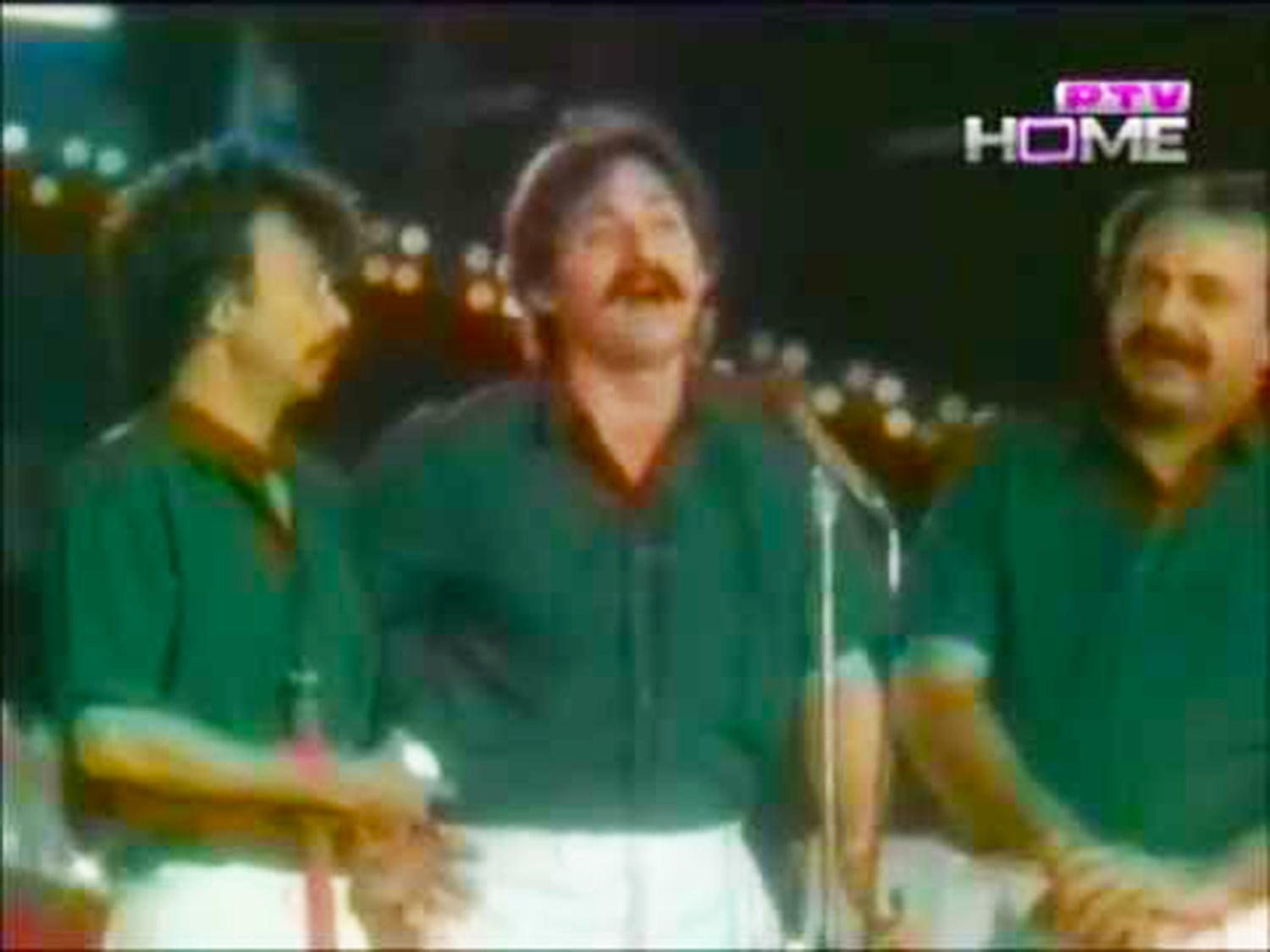 Hockey's end: TV comedians satirise the Pakistan hockey team's disastrous performance at the 1986 world cup. -- Photo: PTV
