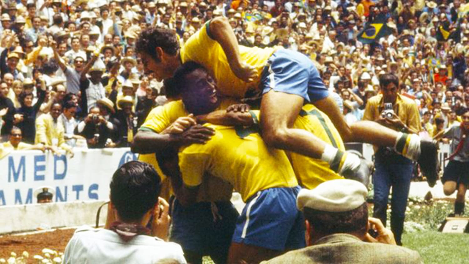 Brazil wins the 1970 world cup in Mexico. -- Photo: Guardian