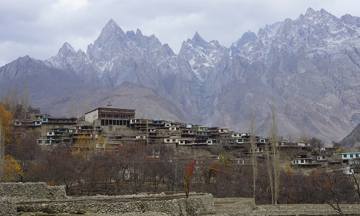 View of Machulu village located in Hushe Valley, Gilgit-Baltistan