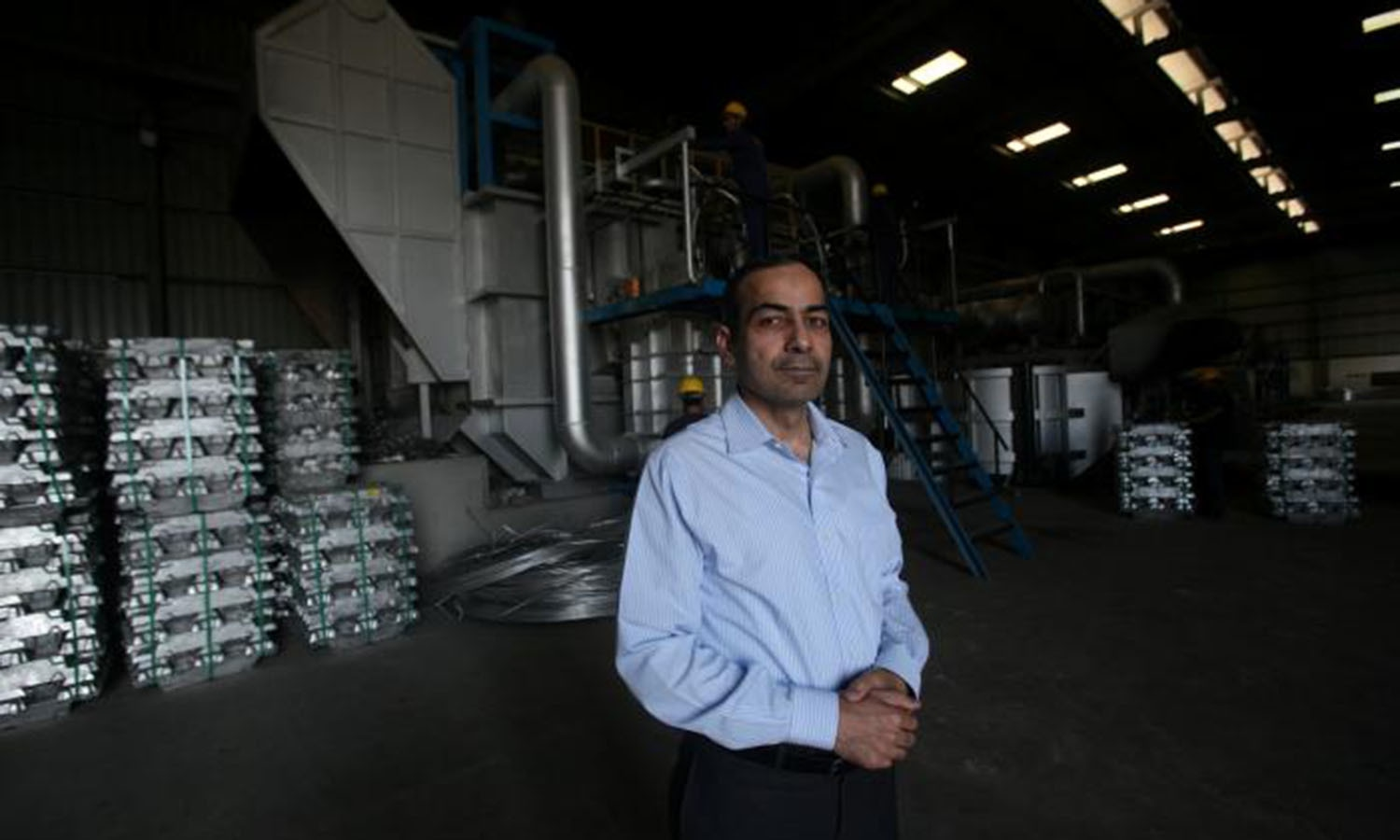 Kamal Amjad Mian, Director of Fast Cables, poses for a picture at plant in Lahore.─Reuters