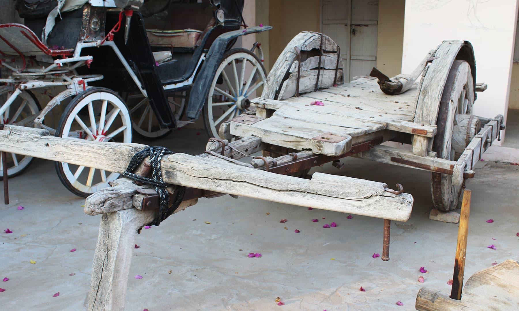 قدیم بیل گاڑی — تصویر اختر حفیظ