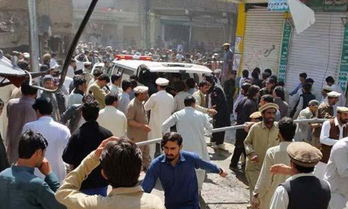 The blast took place in the crowded Noor market.—DawnNews