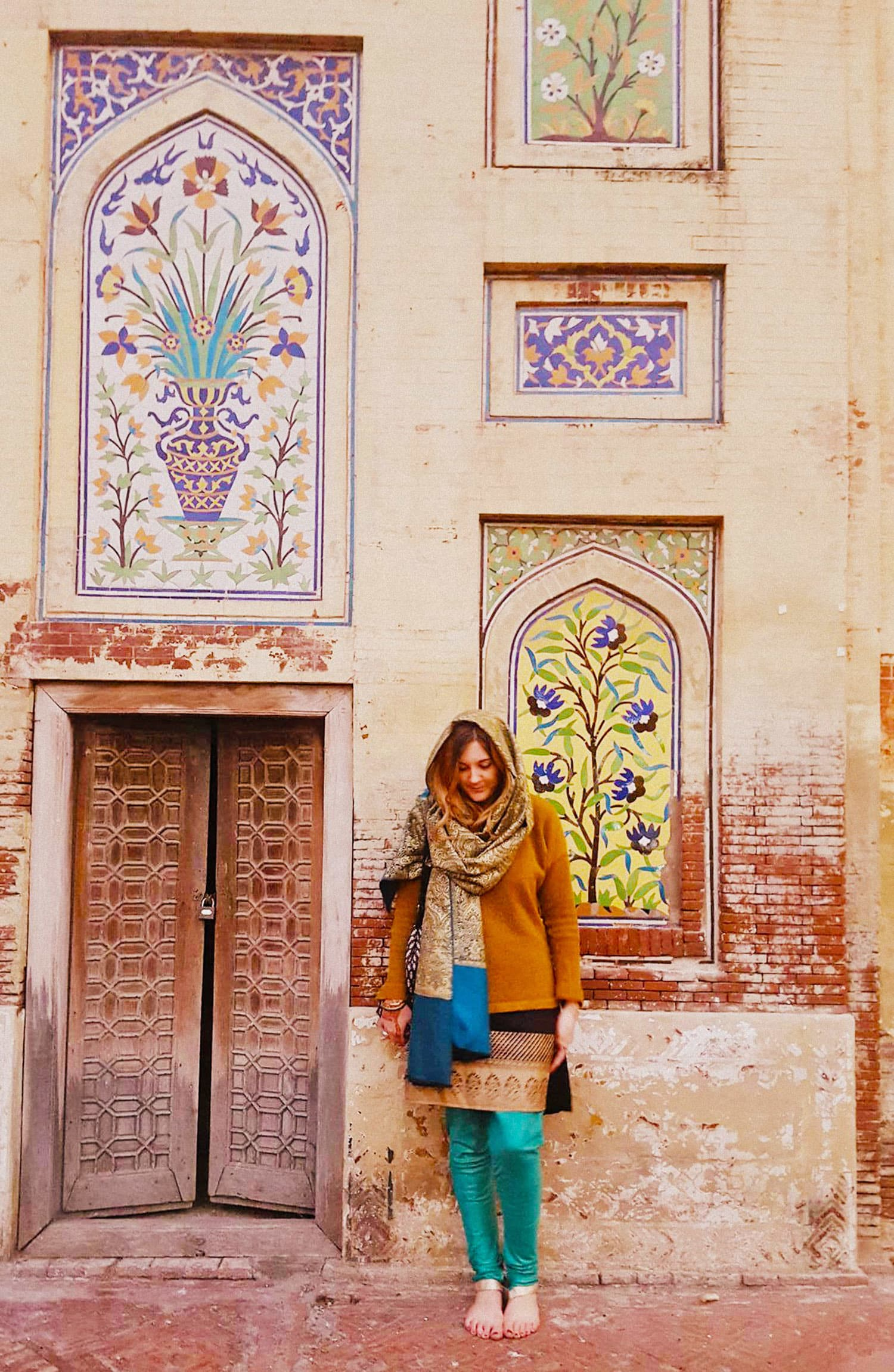 I loved the colourful tiles at the Wazir Khan mosque.