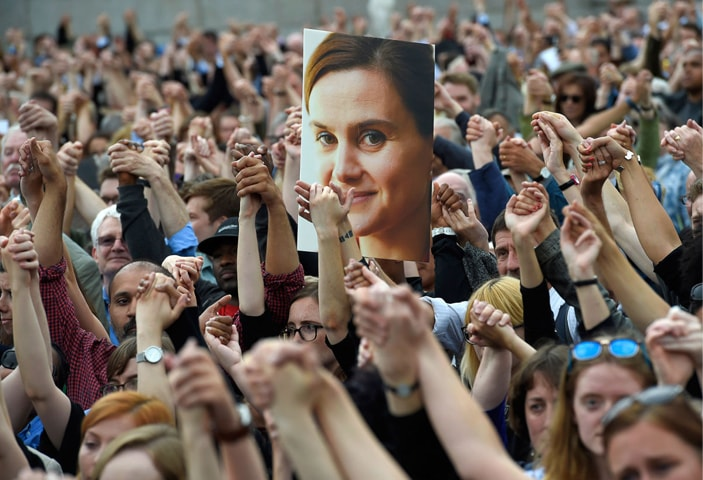 July 15, 2016: Hundreds flock to the funeral of slain anti-Brexit MP Jo Cox to pay their last respects