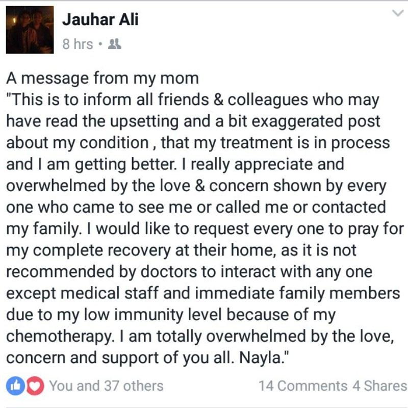Nayla Jaffri son Jauhar Ali facebook
