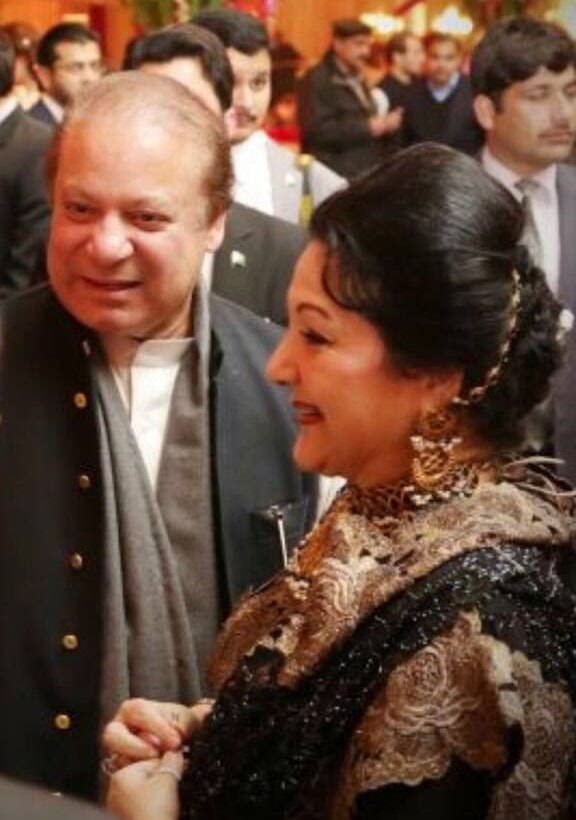 The Sharifs attend an event together. ─ Photo courtesy Maryam Nawaz official Twitter