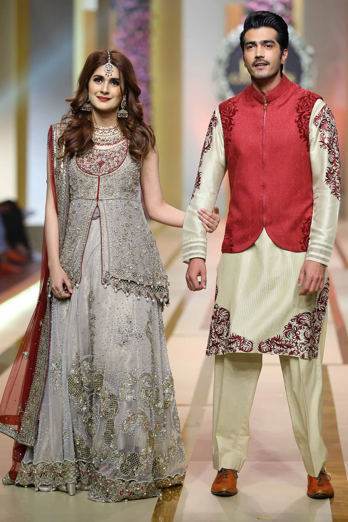 Kubra Khan, Junaid Khan, and, more, own, the, night, on, Bridal, Couture, Week Day, 3
