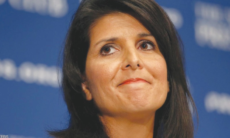 US ambassador to the United Nations Nikki Haley.—Reuters