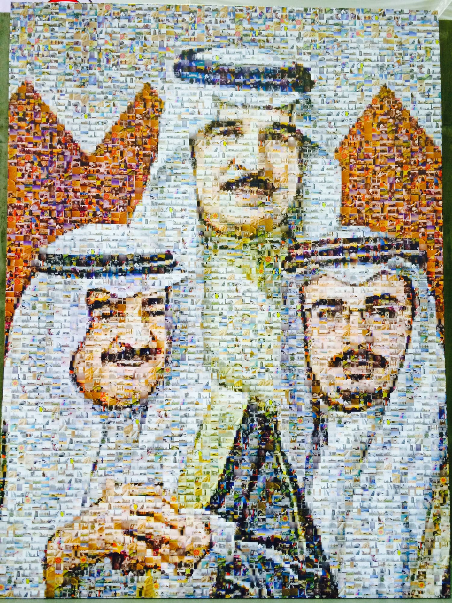 Like most monarchs in the Gulf region, portraits of the Bahraini royal family could be seen almost everywhere.
