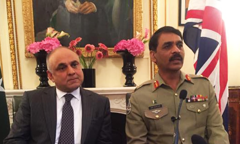 Director General Inter-Services Public Relations (ISPR) Major General Asif Ghafoor in London. -ISPR
