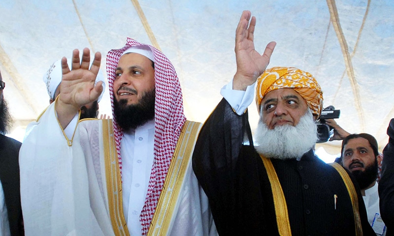 Accompanied by Imam-i-Kaaba, Fazl says Islam has no place for terrorism