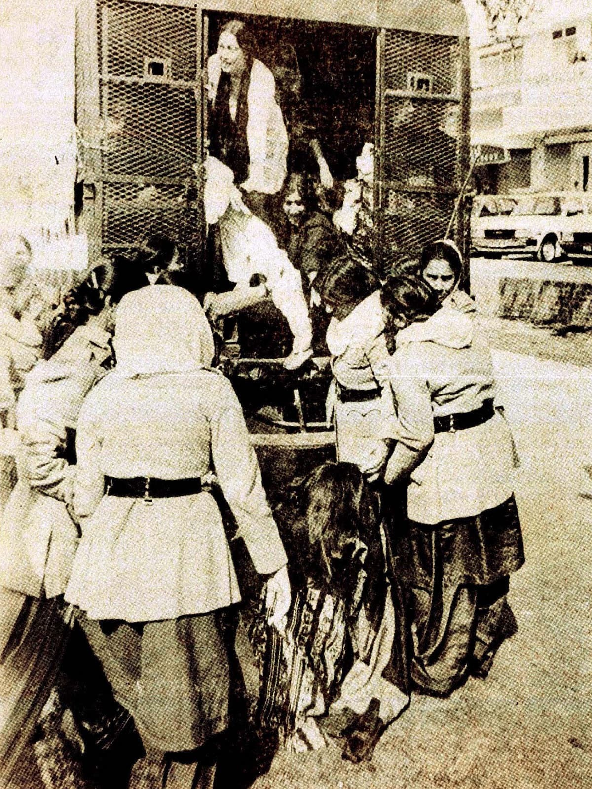 Female protesters being arrested during Zia's regime | *Herald* archives