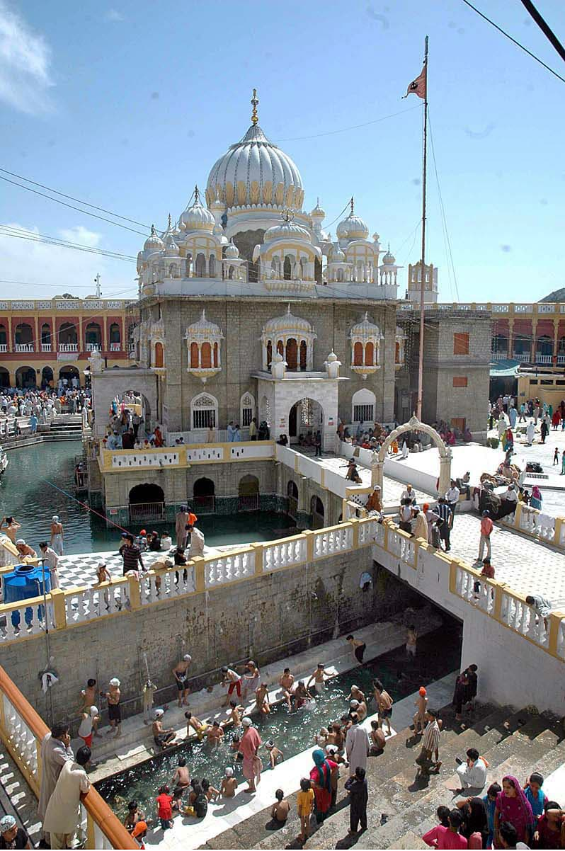 Baisakhi is widely celebrated by Sikhs in Punjab, with festivities centred on Panja Sahib Complex in Hassanabdal. —APP