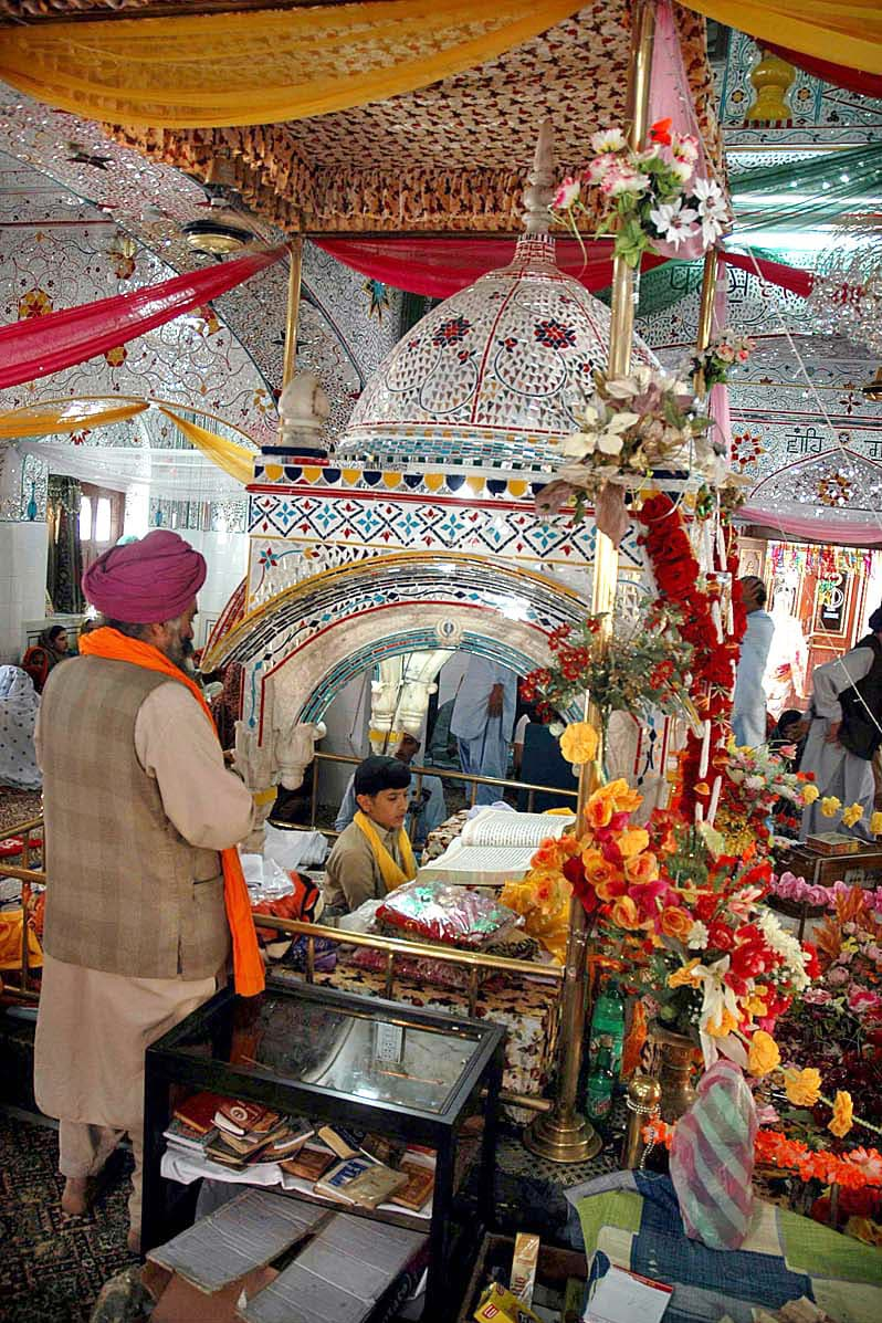 The shrine is considered to be particularly important as the handprint of the founder of Sikhism, Guru Nanak. —APP