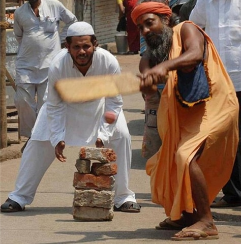 Putting religious differences aside to engage in a game of cricket | Imgur