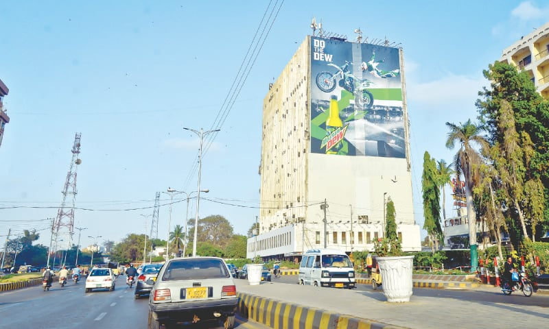 Old building, new ad./ Photos by Fahim Siddiqi / White Star