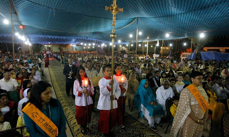 سینٹ پیٹرک چرچ کراچی —فوٹو: اے پی
