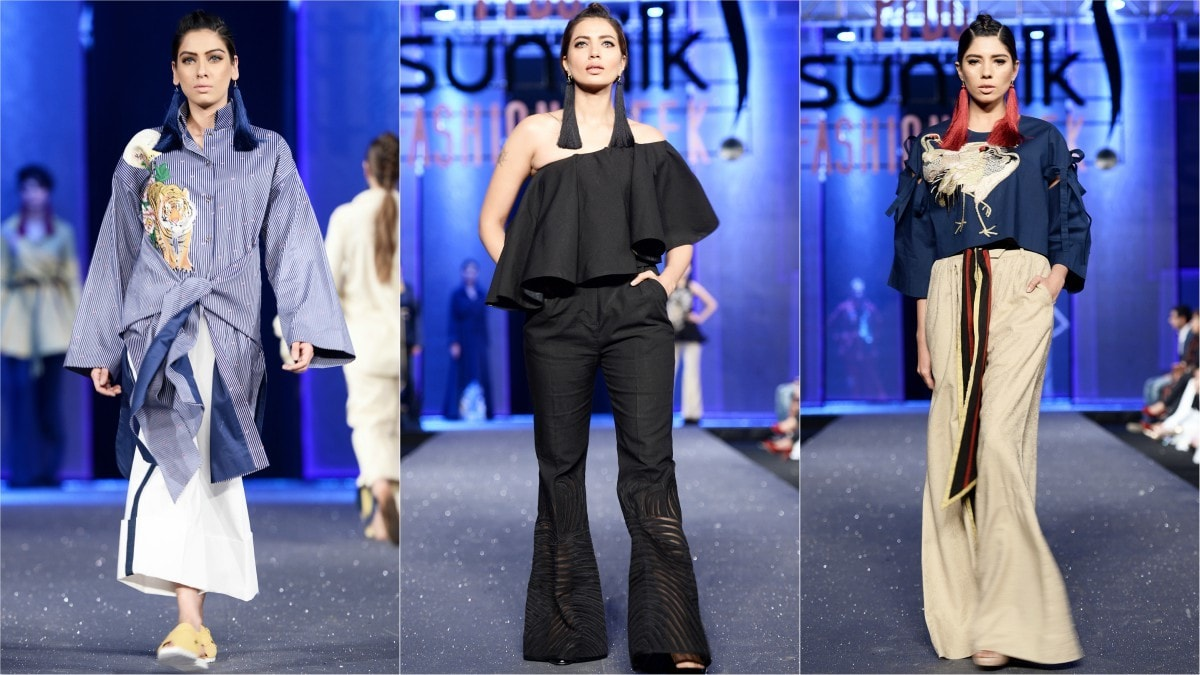 From ramp to reality: the collection will be available at Sapphire stores as is