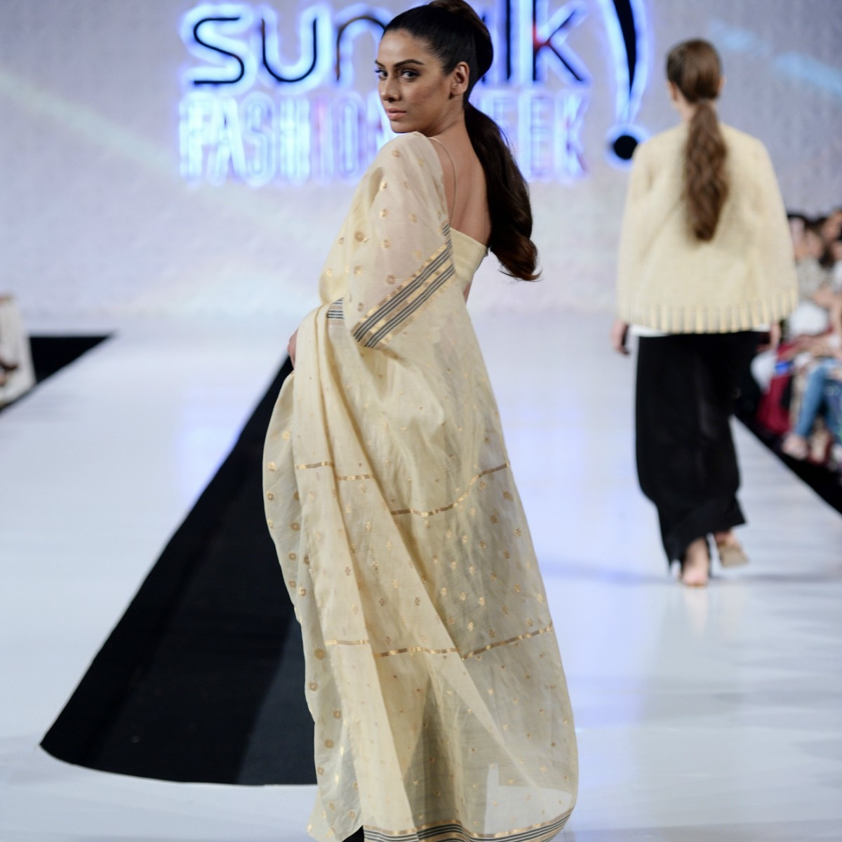 The designer came back to the ramp after a mini hiatus with a bang