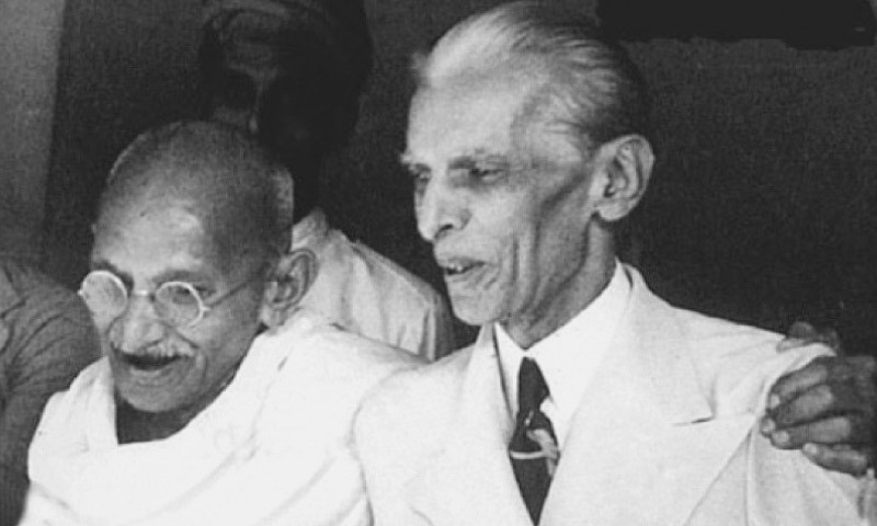 Haqqani states that Jinnah and Gandhi were passionate about good ties between the two countries | Dawn file photo