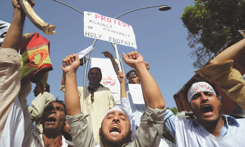 Young anti-blasphemy protesters in Islamabad in 2012. ─ White Star/File