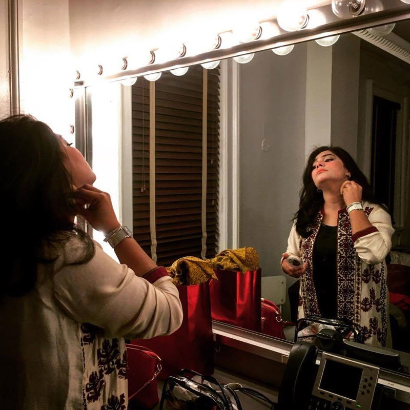 Sanam getting ready for her performance at BAM Opera House