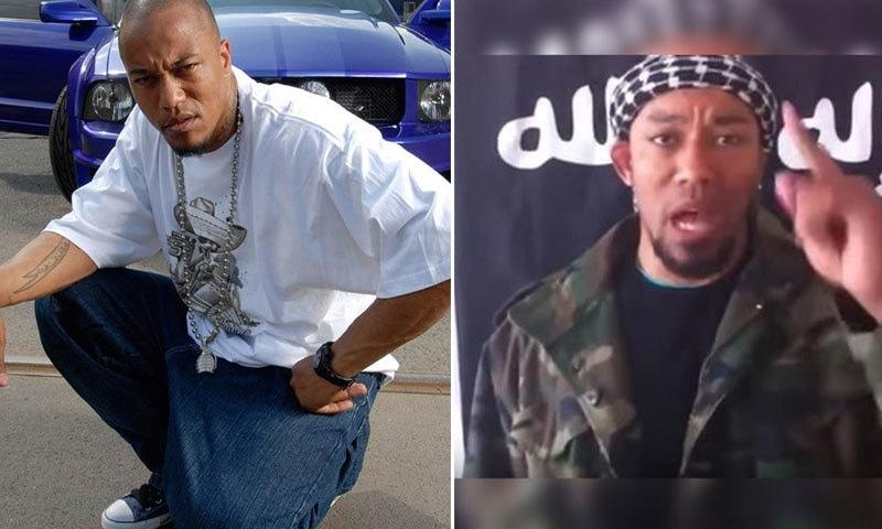 ابو طلحہ کی داعش میں شمولیت سے پہلے اور بعد کی تصاویر — فوٹو بشکریہ سی این این