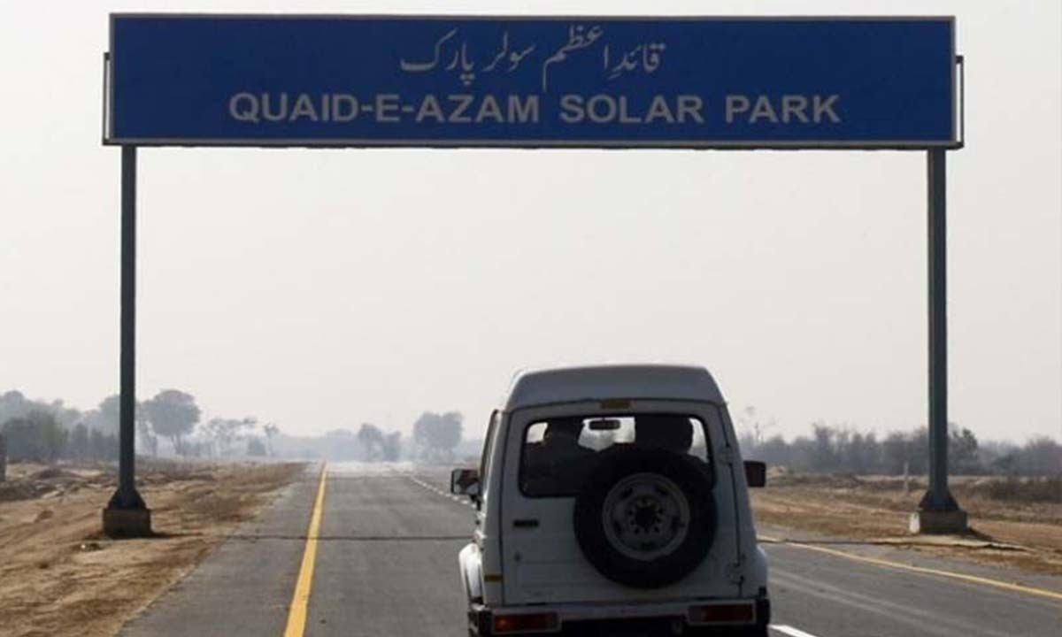 The road leading to Quaid-e-Azam Solar Park in Bhawalpur | AFP