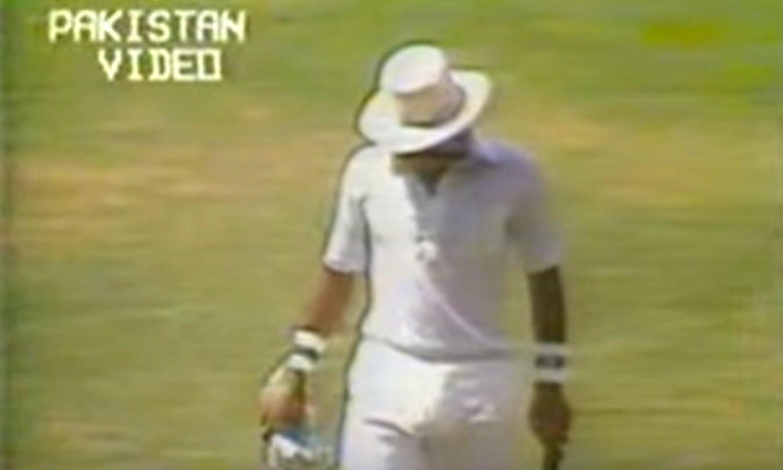 Yadev takes out Rameez. Photo: Video Grab