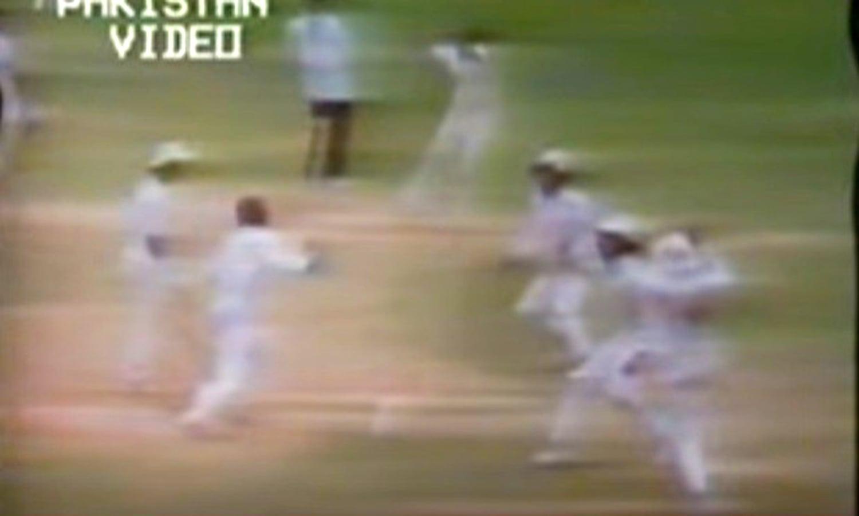 Gavaskar goes. Photo: Video Grab.