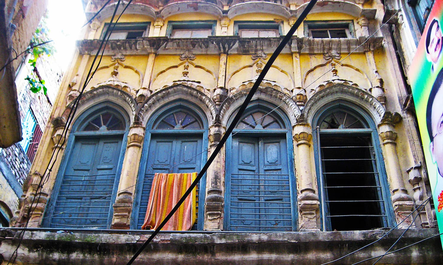 The striking colours make the ancient architecture very picturesque.