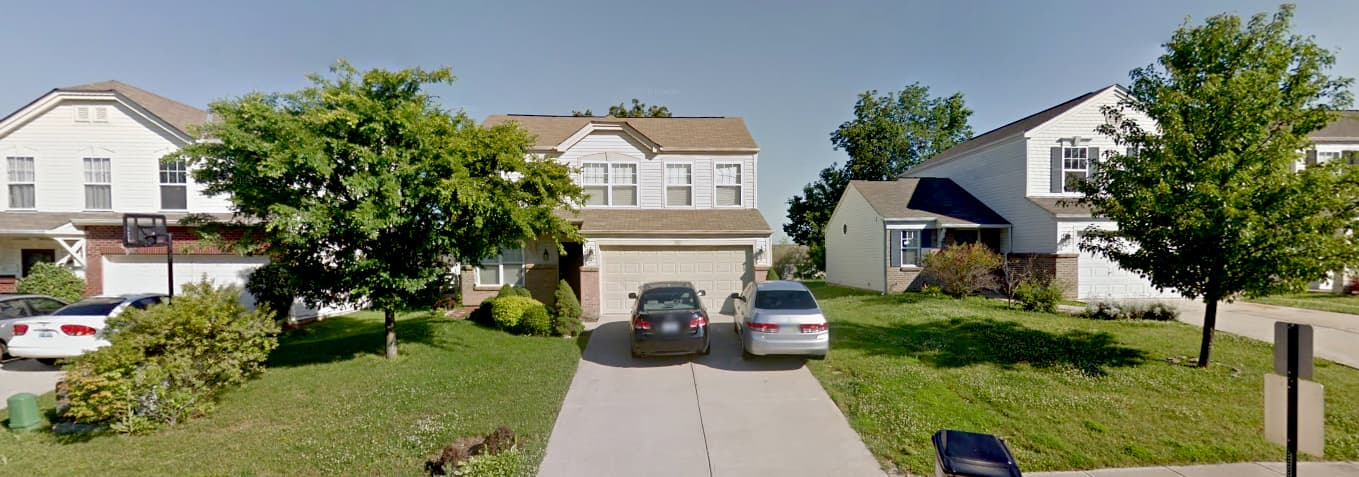 A Google StreetView capture of the house Umair Hamid was arrested from.