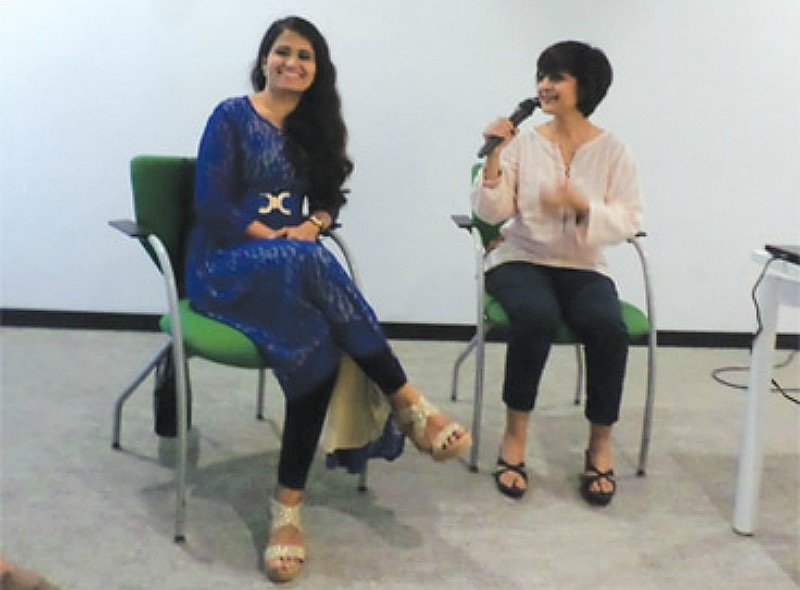 Rosheen Khan with filmmaker Nameera Ahmed at the British Council library screening of 'Mermaid of Churna Island' — Photo by author