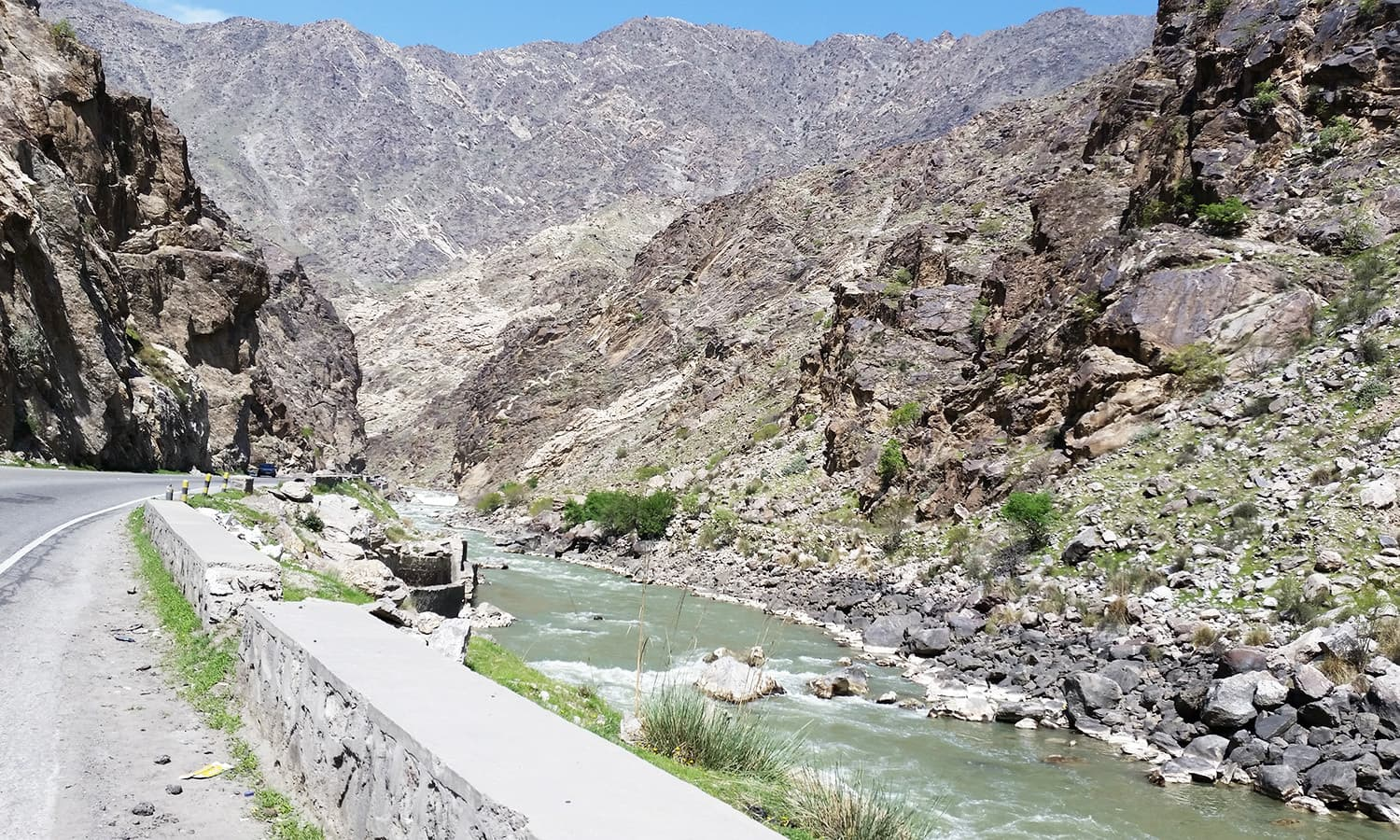 Kabul to Jalalabad road.