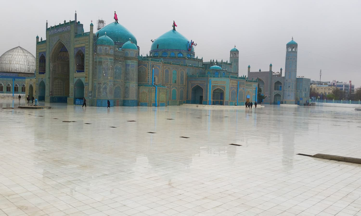The Blue Mosque in Mazar-e-Sharif.