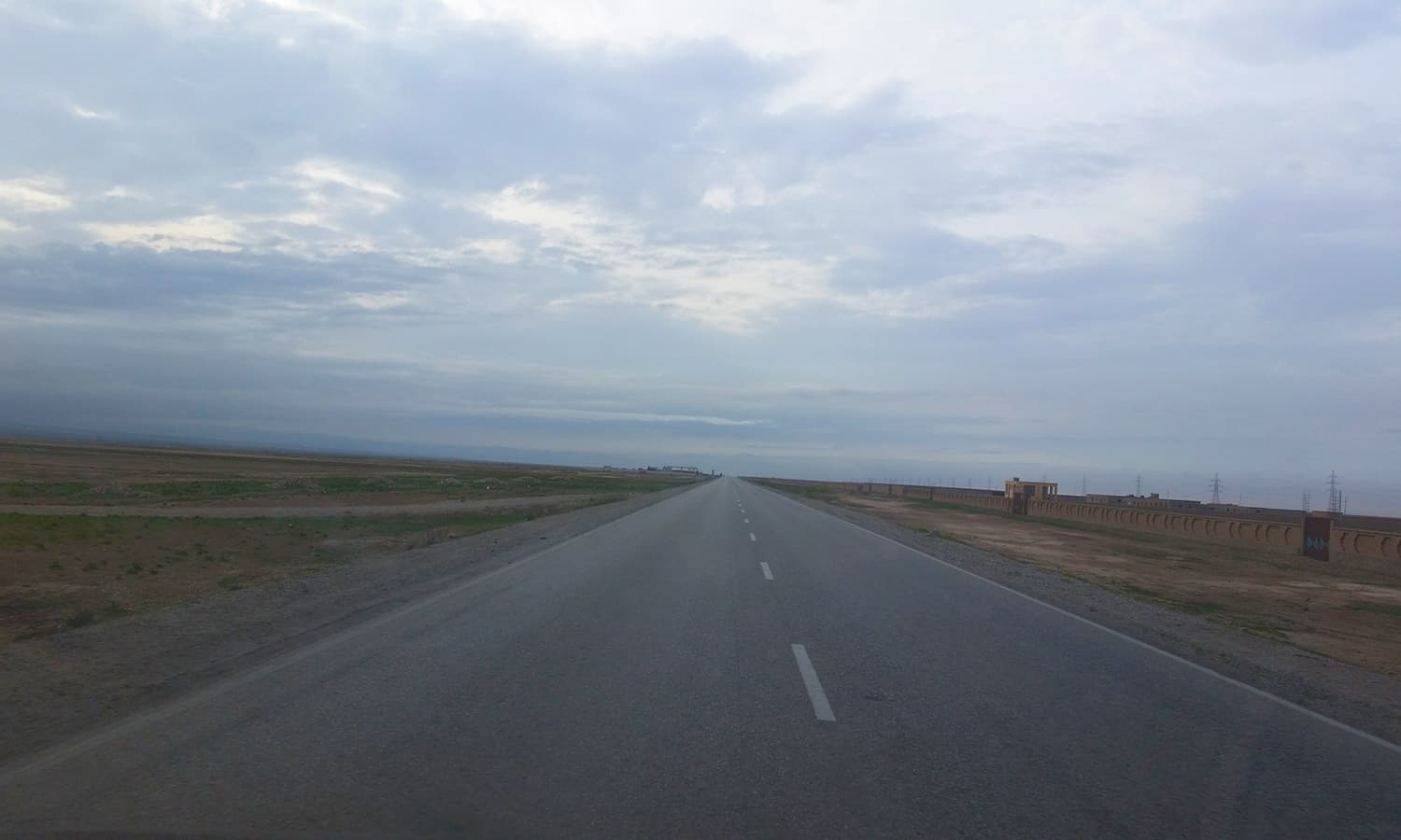 Treeless plain on approach to Mazar-e-Sharif.