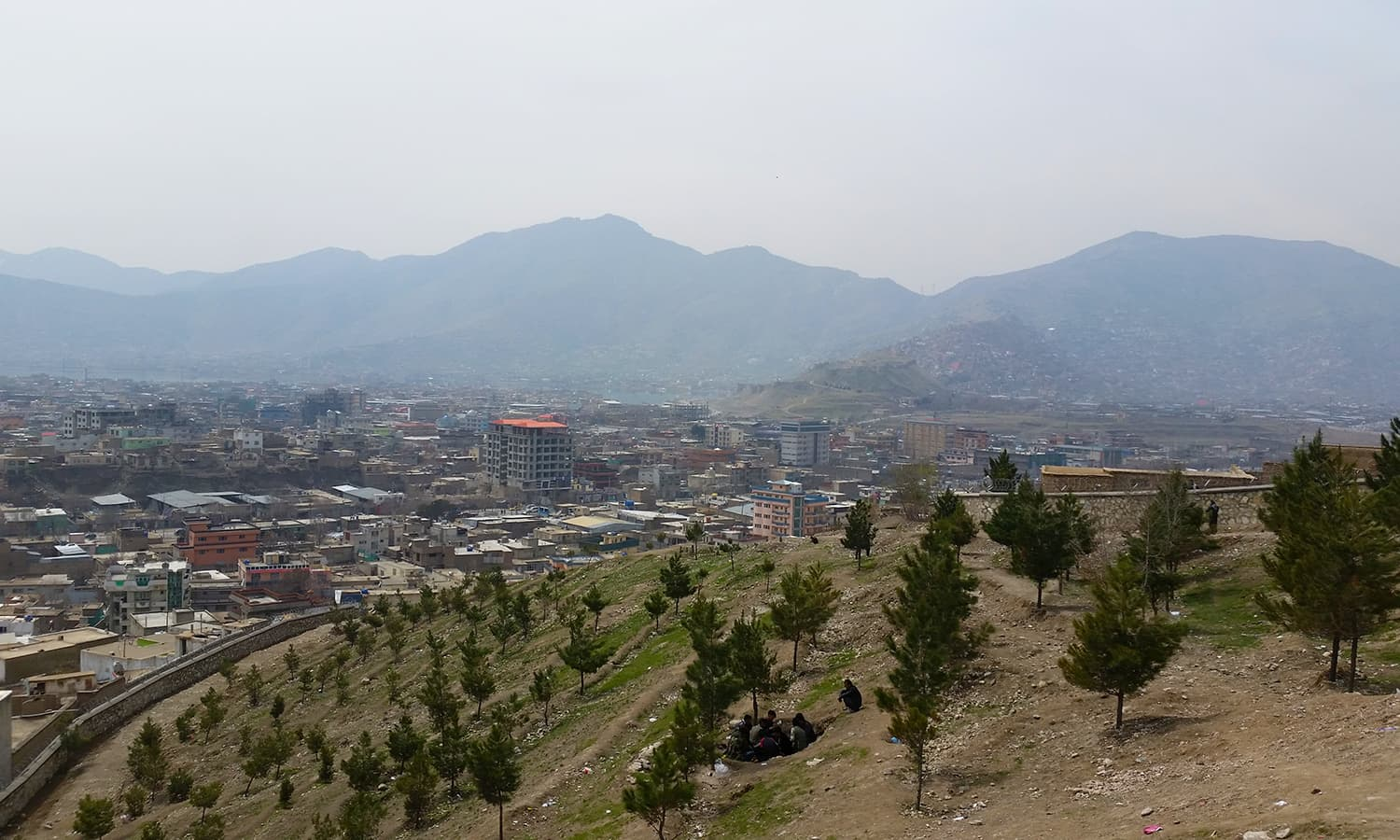 View of Kabul from the tomb.