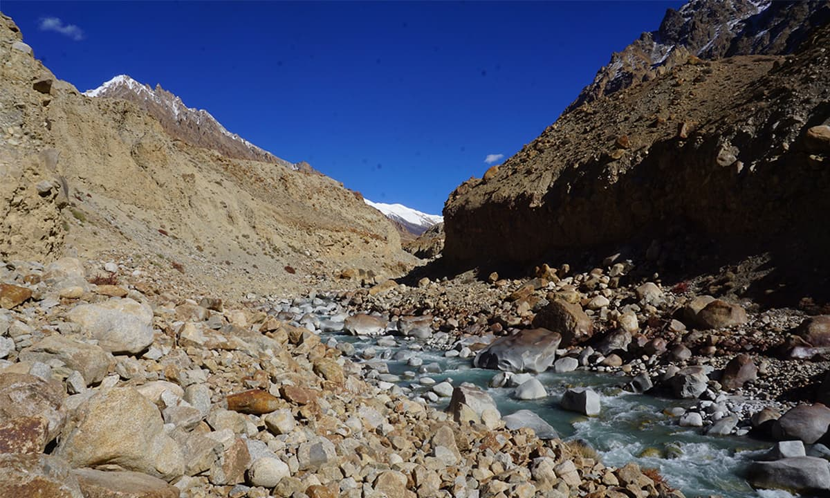 River flowing near Shimshal Pass