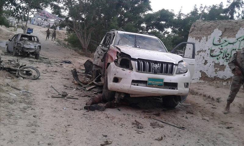 دھماکے میں ڈپٹی چیئرمین سینیٹ عبدالغفور حیدری کے قافلے کو نشانہ بنایا گیا—۔ڈان نیوز