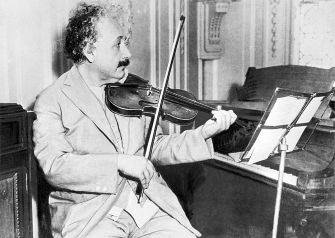 Taught to play the violin as a child by his mother, Einstein often used music to help himself brainstorm | AP