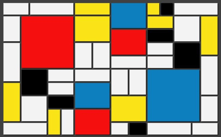 Line Over Form, Piet Mondrian