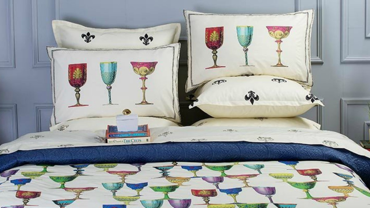 Eyeing these quirky sheets from Sapphire Home