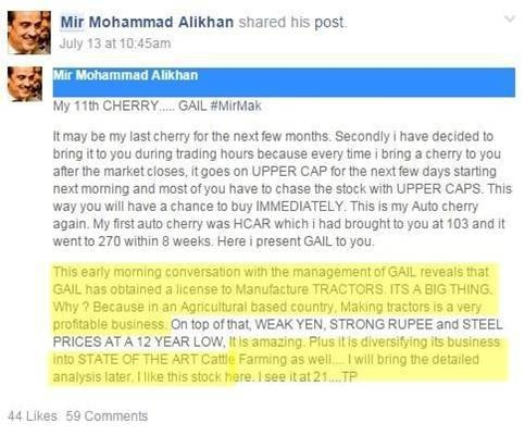 Screenshot of the post shared by the SECP.