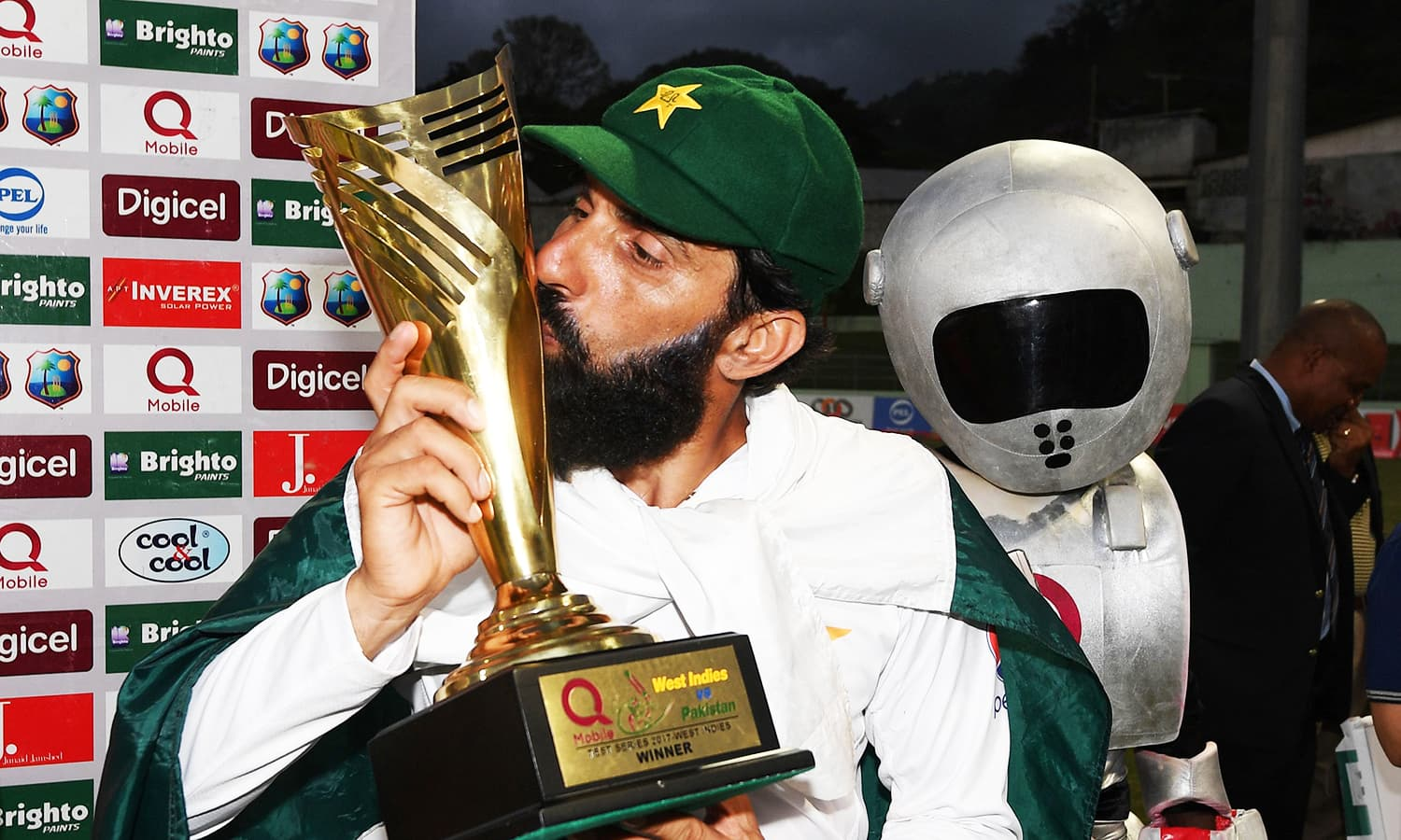 Victory is sweet for Misbah as he bows out of the international arena with yet another record to his name.  — AFP