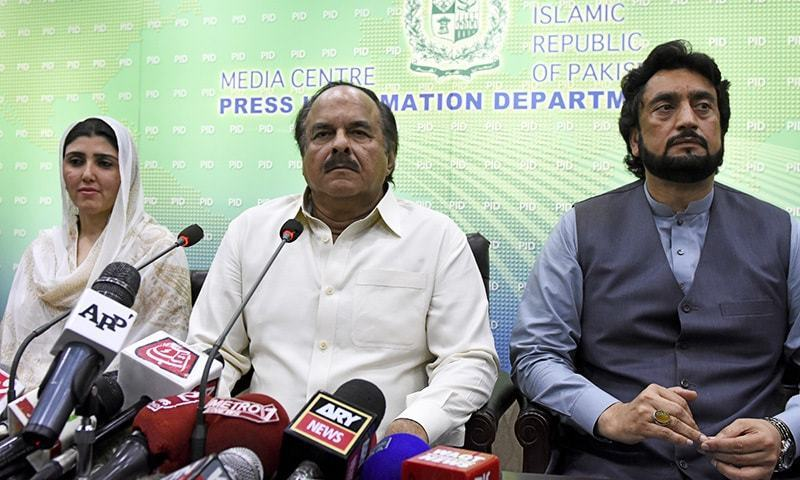 PTI's Naeemul Haque apologises to Tariq Fatemi over tweet based on 'wrong information'