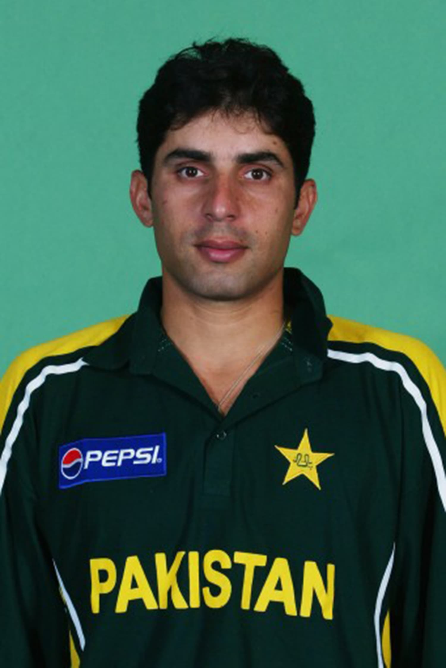Misbah in 2002. He had made his Test debut in 2001 and ODI debut in 2002. — Photo: Cricket Archive