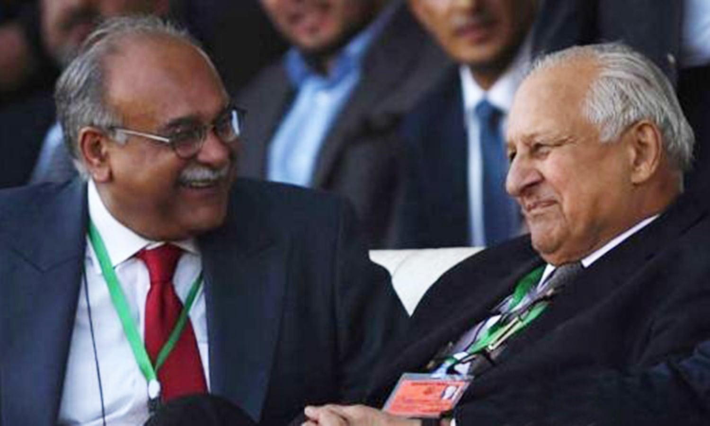 PCB's Najam Sethi and Shahryar Khan fully backed Misbah. — Photo: 92HD