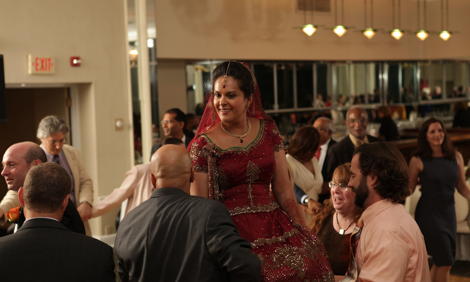 Amara Chaudhry Kravitz is lifted on a chair, as the guests dance to the 'Hava Nagila'. — Photo courtesy Amara Chaudhry Kravitz